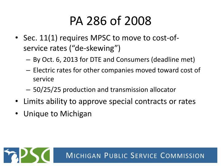 PA 286 of 2008