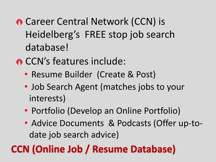 Career Central Network (CCN) is Heidelberg's