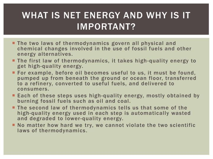 What Is net energy and why is it important?
