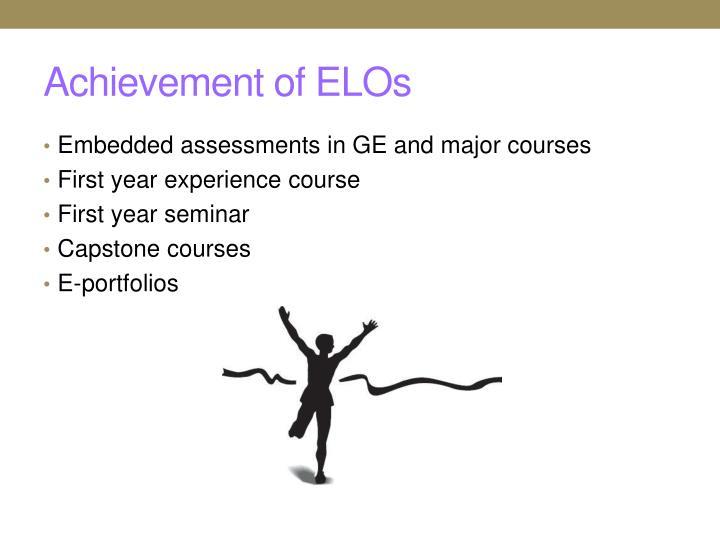 Achievement of ELOs