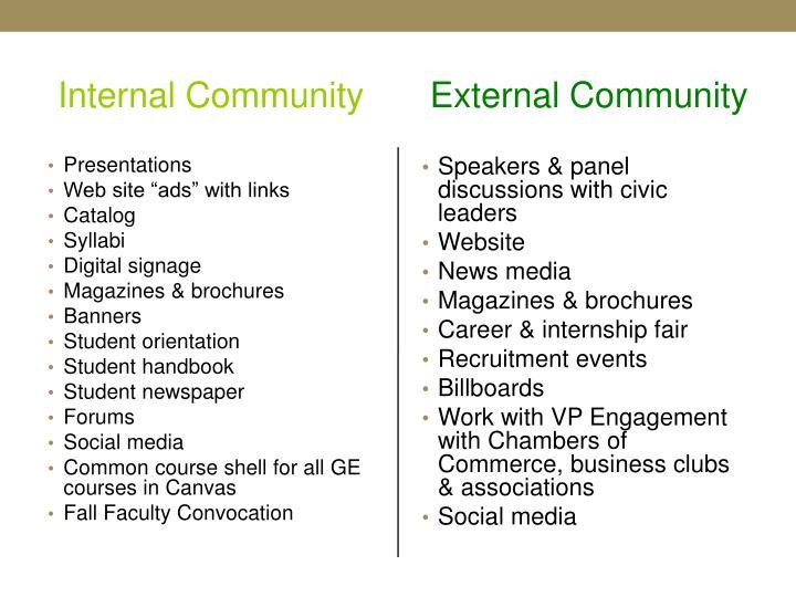Internal Community