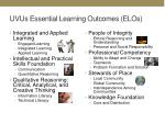 uvus essential learning outcomes elos