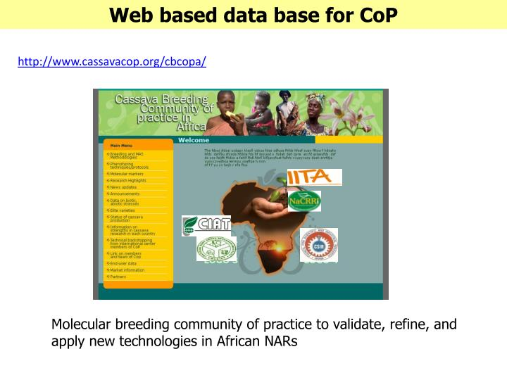 Web based data base for