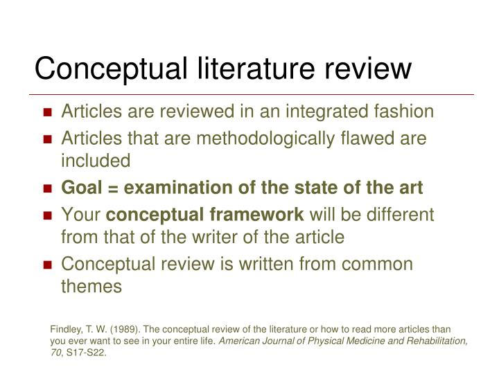 Conceptual literature review
