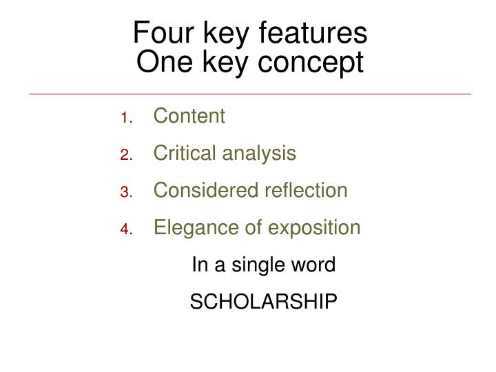 Four key features