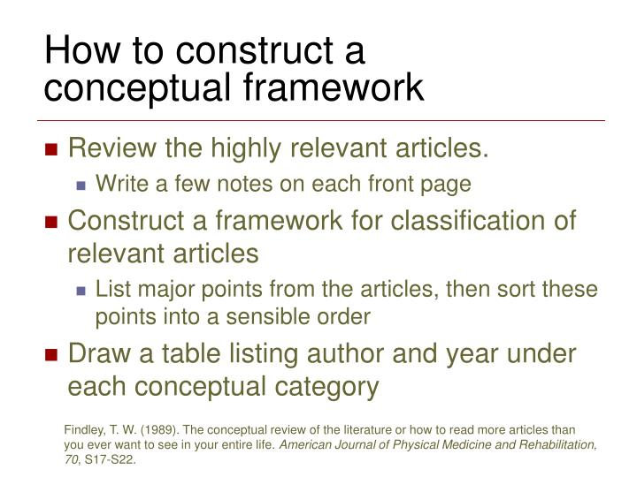 How to construct a