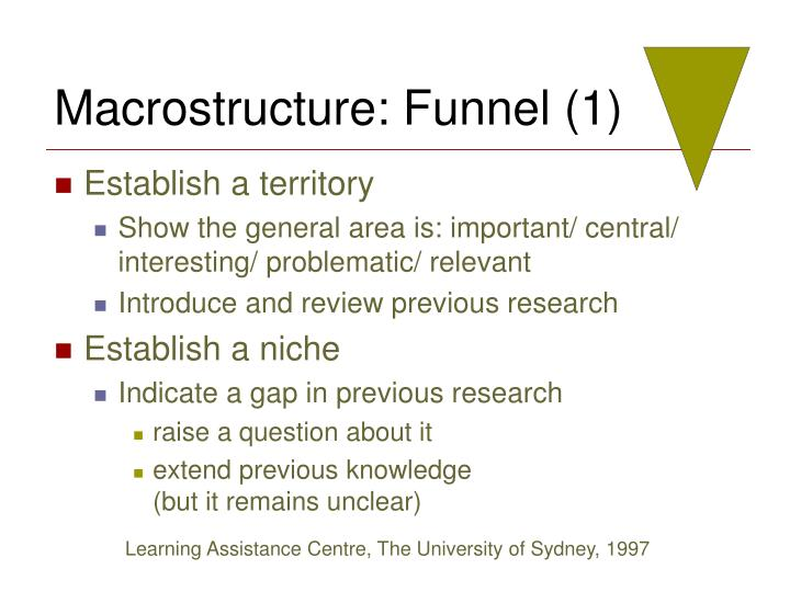 Macrostructure: Funnel (1)