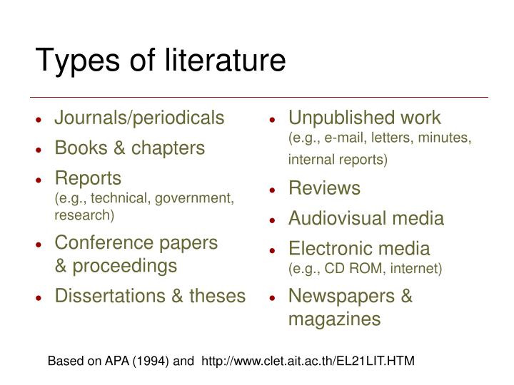 Journals/periodicals
