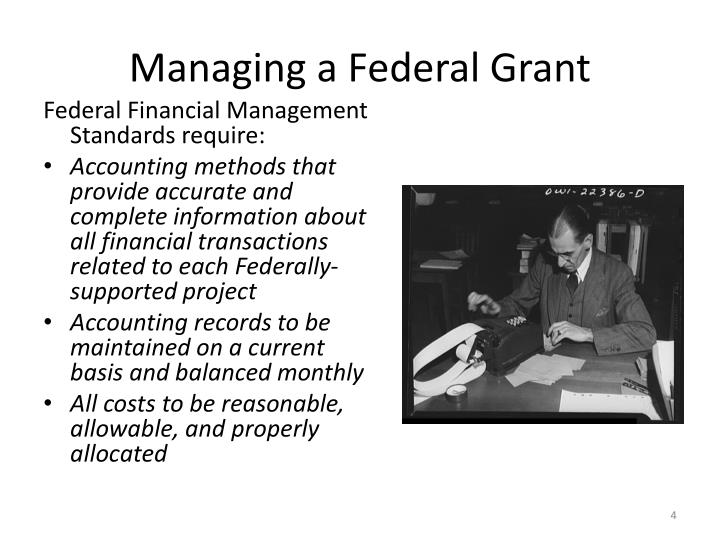 Managing a Federal Grant