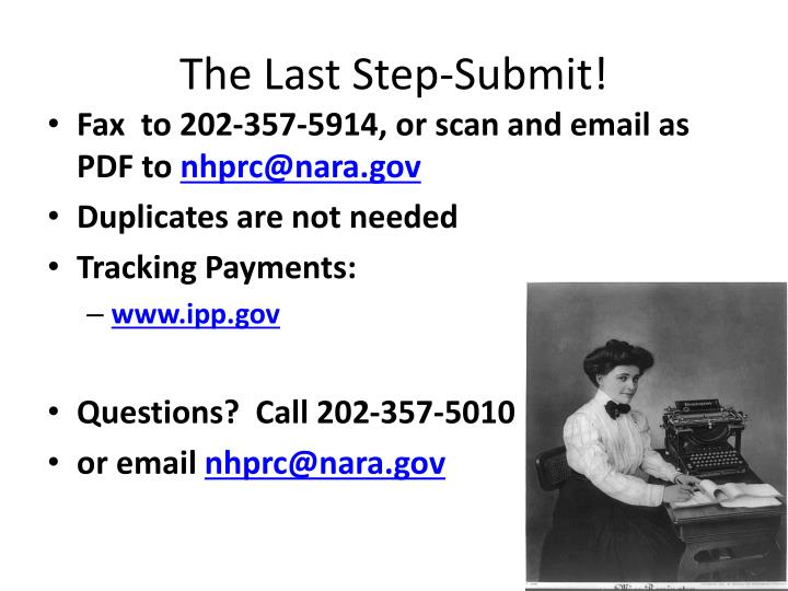 The Last Step-Submit!