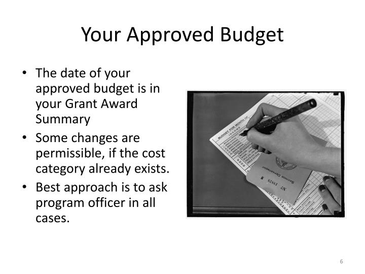 Your Approved Budget
