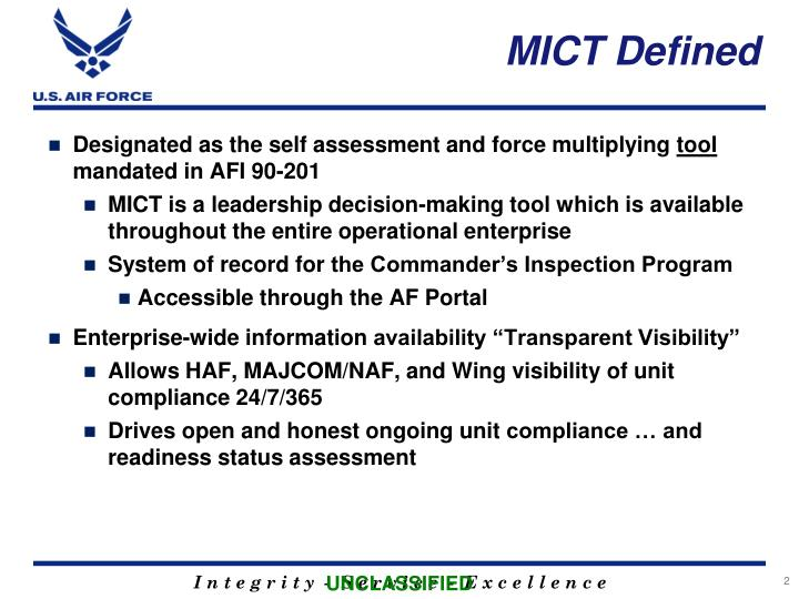 Mict defined