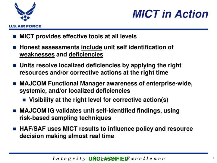 MICT in Action