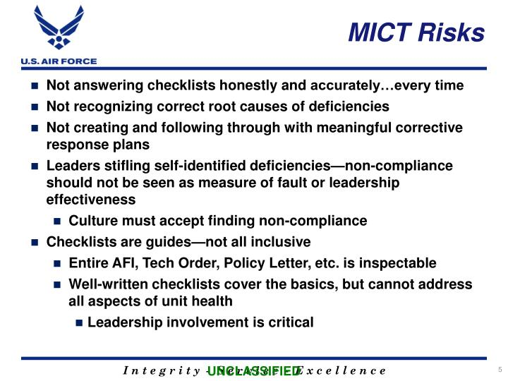 MICT Risks