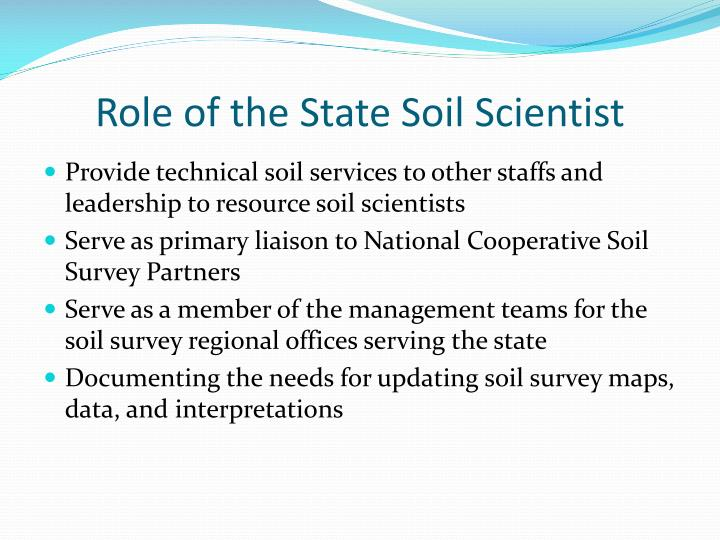 Role of the State Soil Scientist