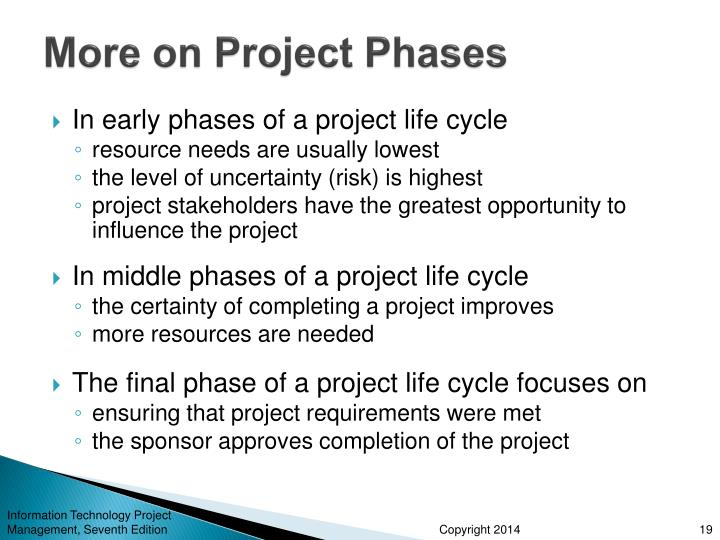 More on Project Phases