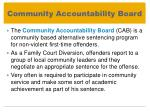 community accountability board