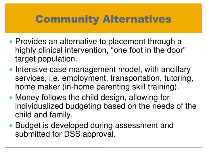 Community Alternatives