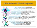 continuum of care programs