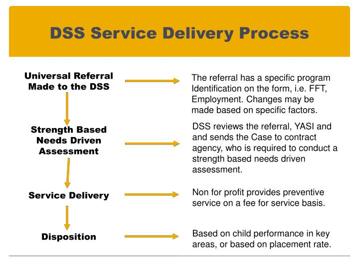 DSS Service Delivery Process