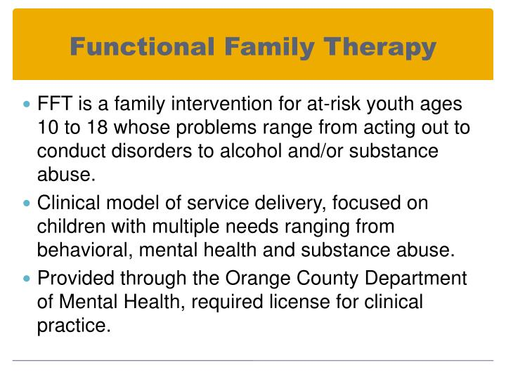Functional Family Therapy