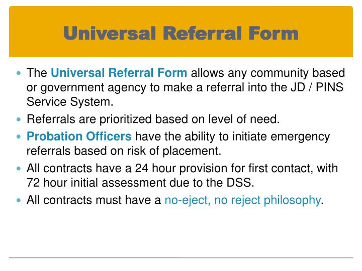Universal Referral Form