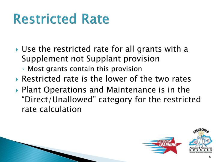 Restricted Rate