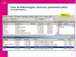 view 2a rekenregels factoren parameter items de inzetplanningstool