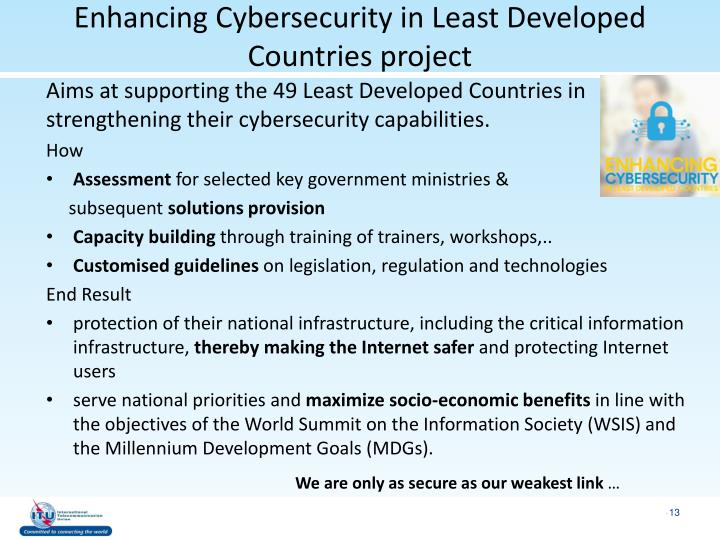 Enhancing Cybersecurity in Least Developed Countries project