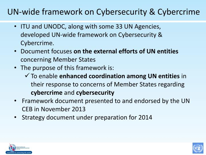 UN-wide framework on Cybersecurity