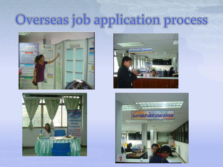 Overseas job application process