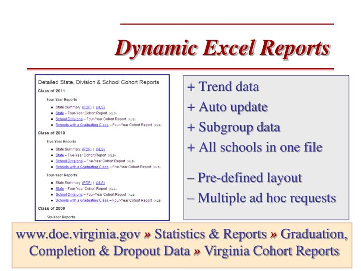 Dynamic Excel Reports