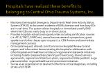 hospitals have realized these benefits to belonging to central ohio trauma systems inc2