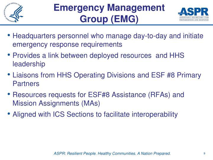 Emergency Management Group (EMG)