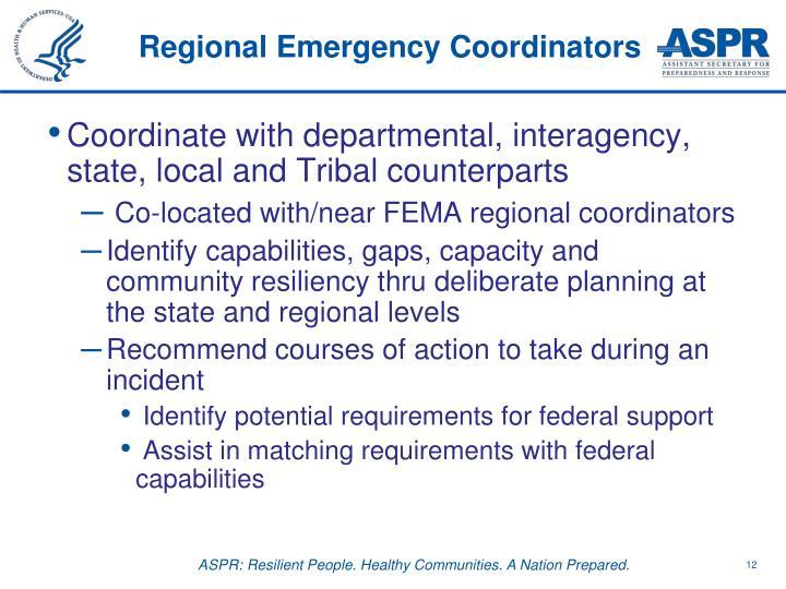 Regional Emergency Coordinators