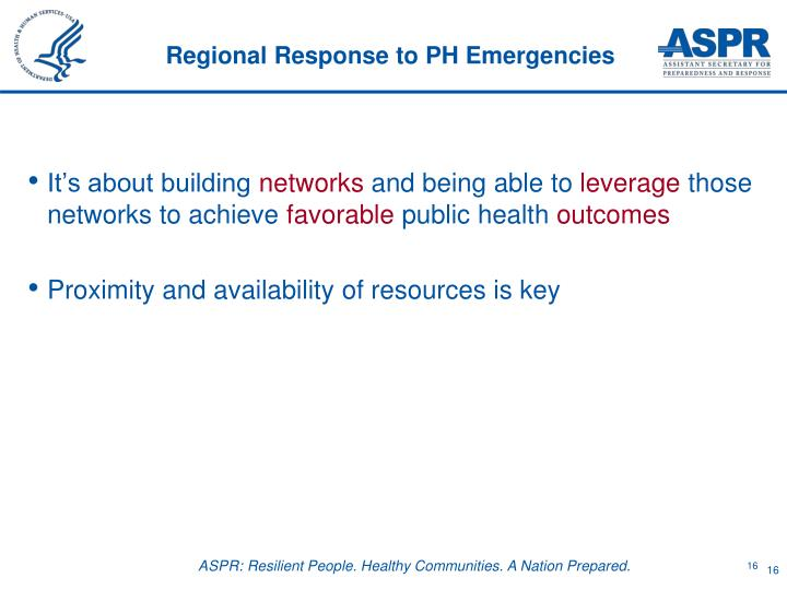 Regional Response to PH Emergencies