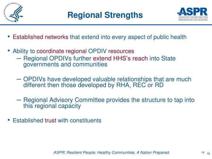 Regional Strengths