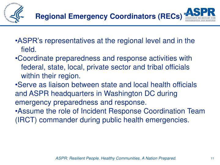 Regional Emergency Coordinators (RECs)