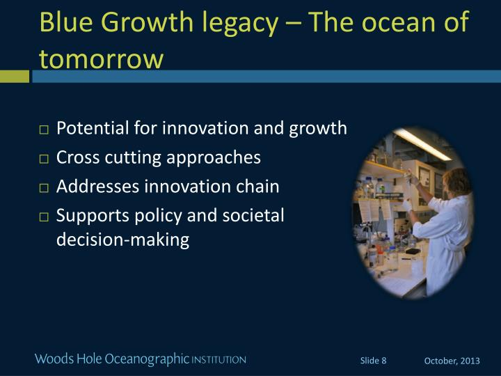 Blue Growth legacy – The ocean of tomorrow