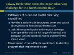galway declaration notes the ocean observing challenge for the north atlantic basin