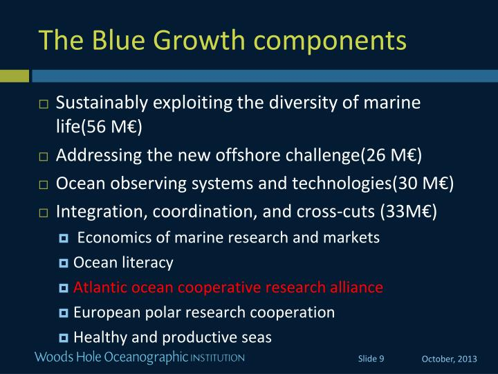 The Blue Growth components