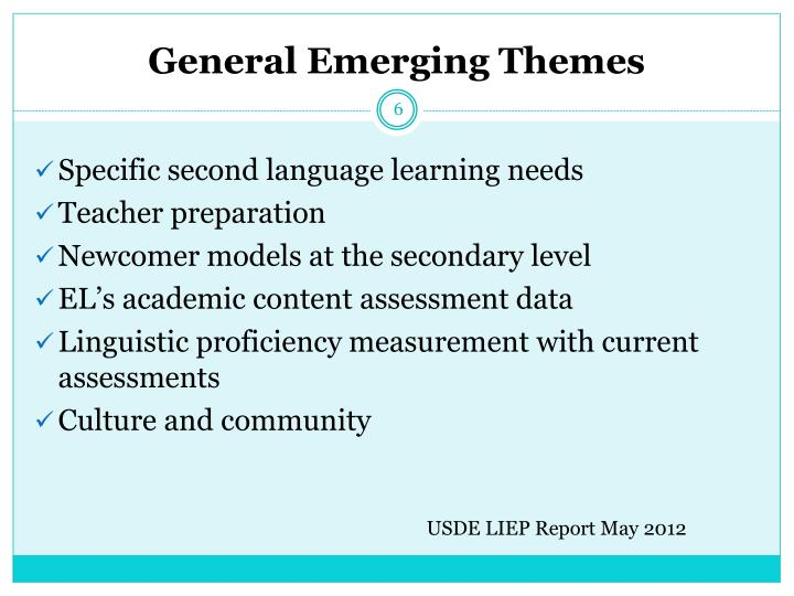 General Emerging Themes