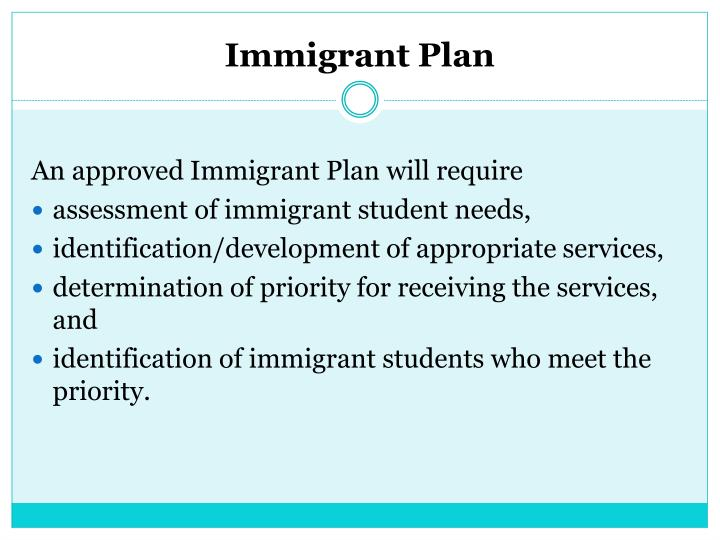Immigrant Plan