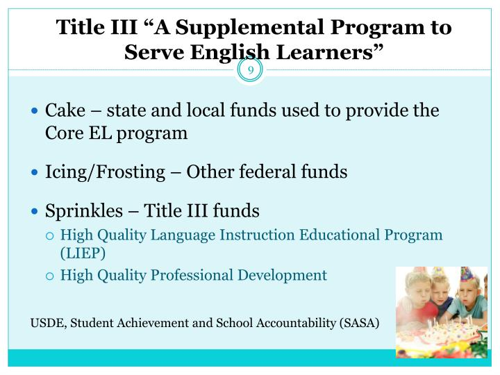 "Title III ""A Supplemental Program to Serve English Learners"""