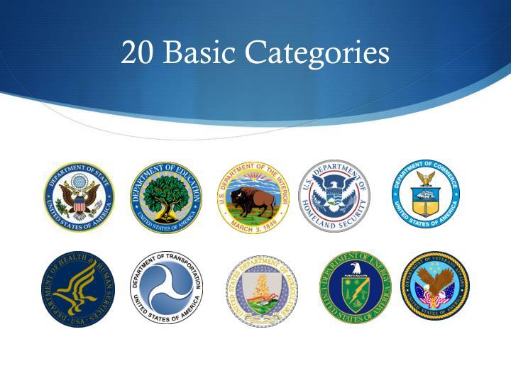 20 Basic Categories