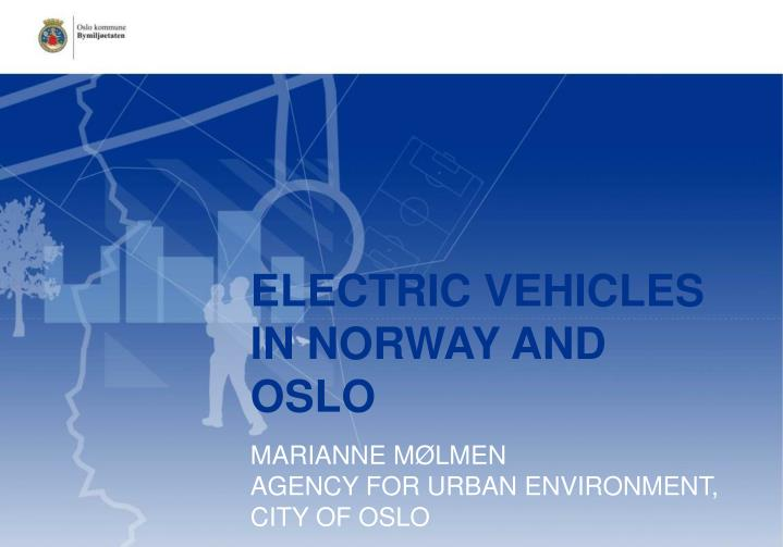 Electric vehicles in