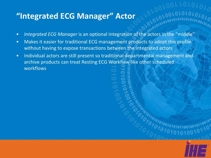 """Integrated ECG Manager"" Actor"