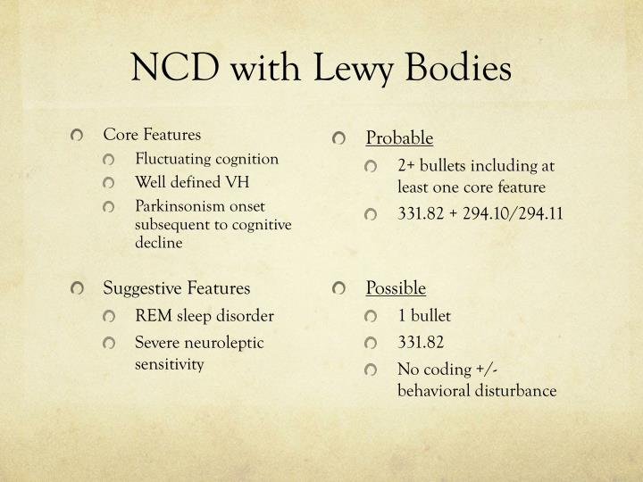 NCD with Lewy Bodies