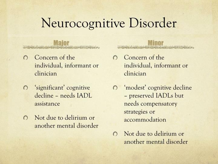 Neurocognitive Disorder