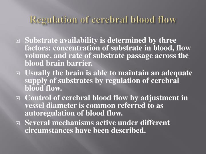 Regulation of cerebral blood flow